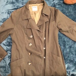 Old Navy Army Green Belted Trench Coat